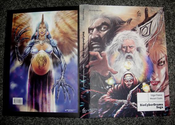 A primeira e a nova capa de ByoCyberDrama Saga