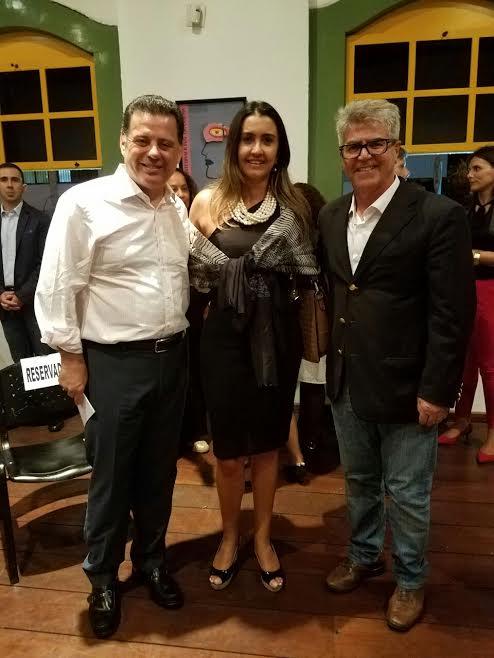 Marconi Perillo, Ana Cristina Dias e Leonardo Rizzo (Foto: Nathan Sampaio)