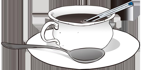 Caneta e Café